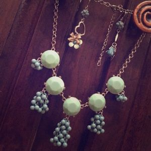 Teal Necklace & Earring Set